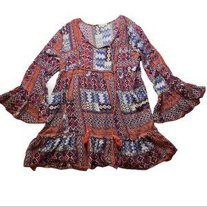 Velzera Bohemian Peasant Dress Size 1XL